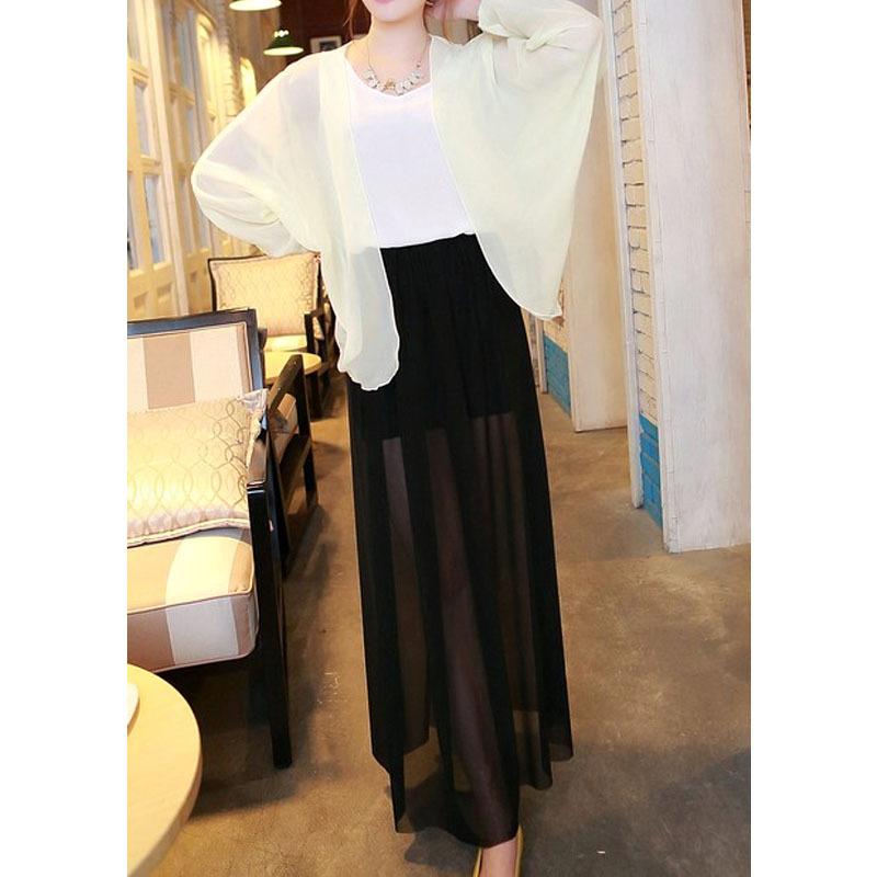 Q1319-nouvelle-2015-été-femmes-jupe-mode-jupes-longues-Casual-Sexy-noir-en-mousseline-de-soie