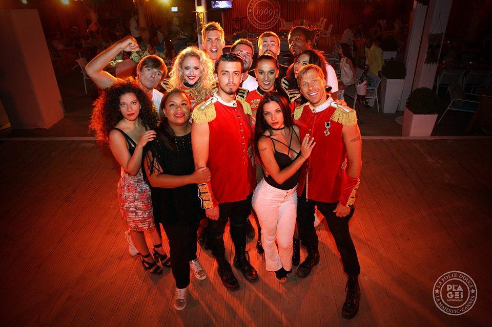 team chanteurs danseurs chorégraphes à la FOlie douce