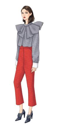 lavallière et pantalon 7/8 eme
