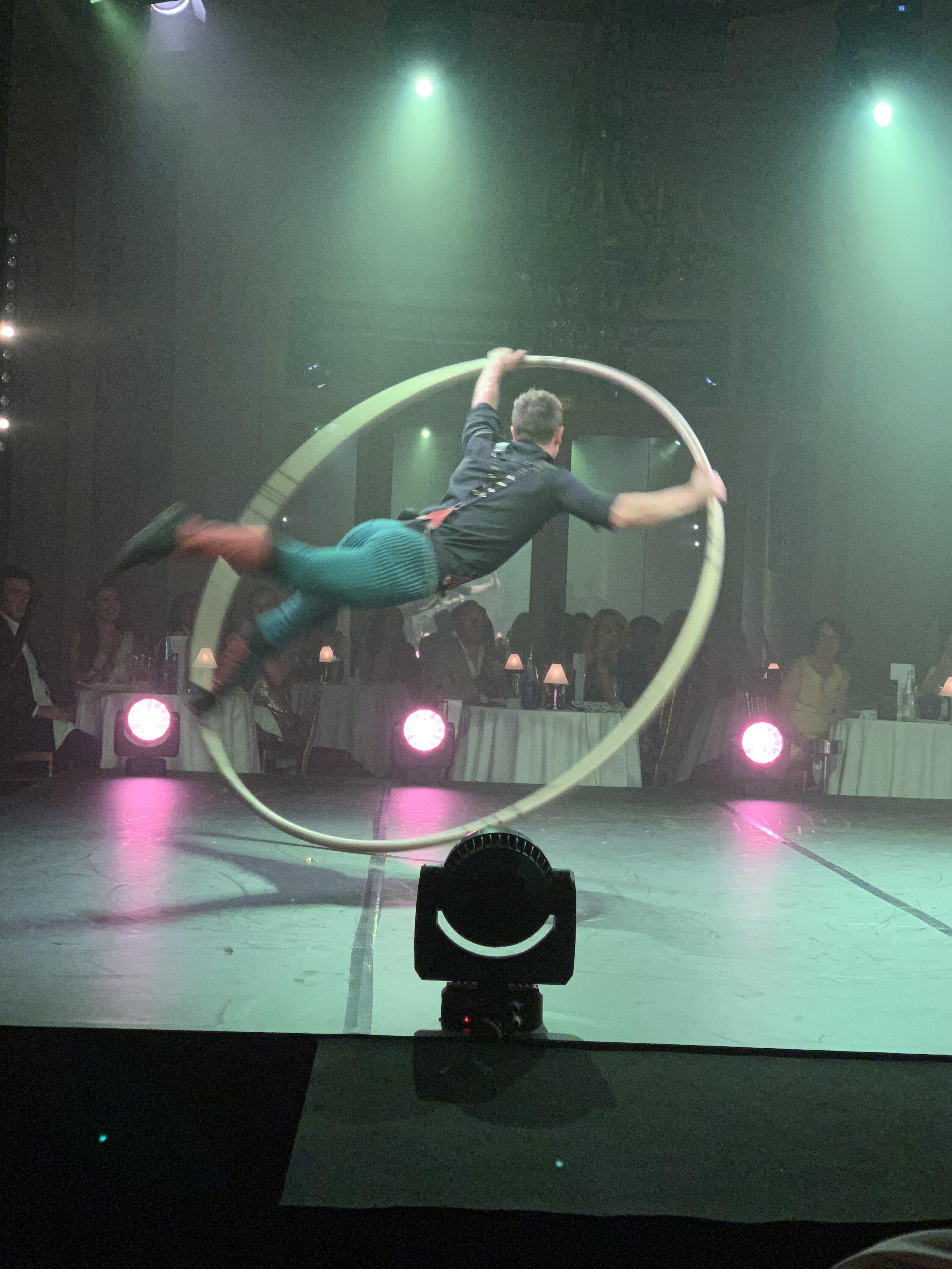 performance athlétique avec the London cabaret club